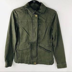 LOFT XS Green Military Style Jacket